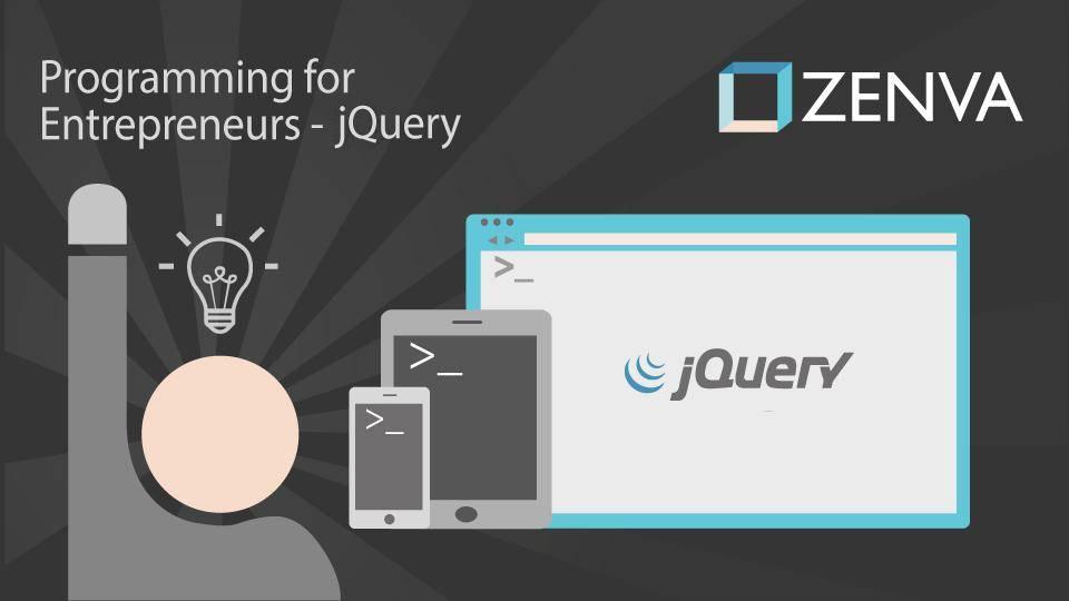 Programming for Entrepreneurs - jQuery