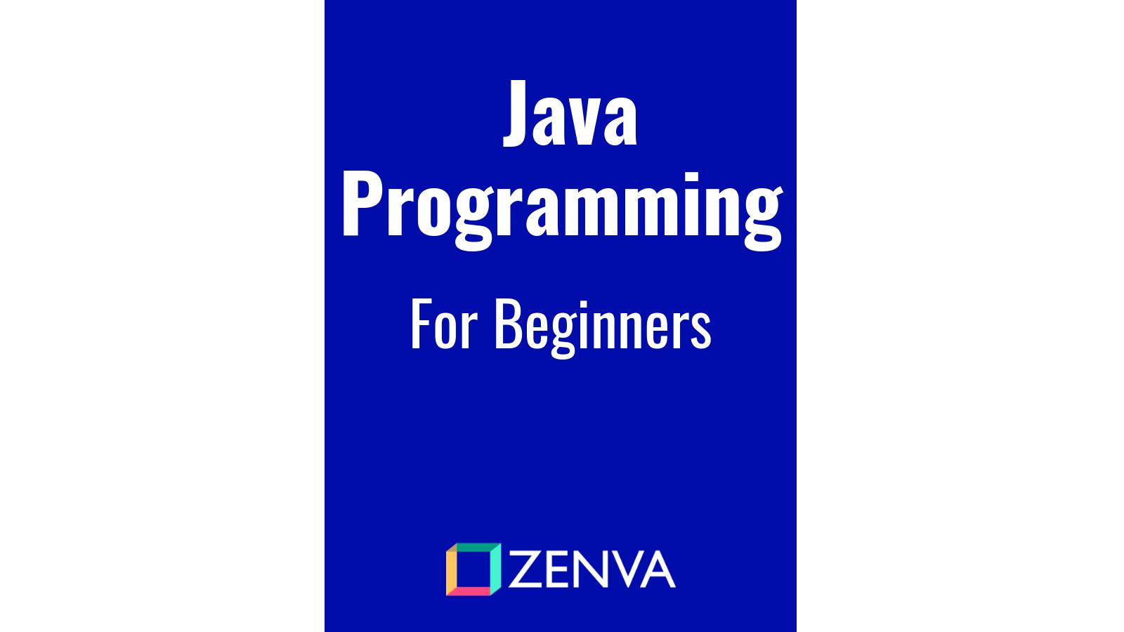 eBook - Java Programming for Beginners