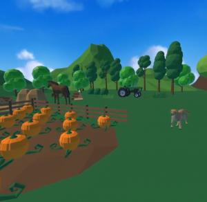 Animal Village screenshot with animals and farm