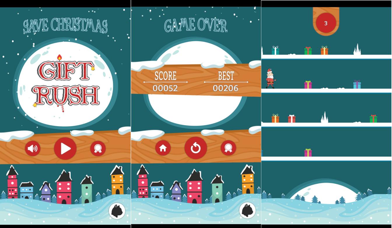Gift Rush game screens