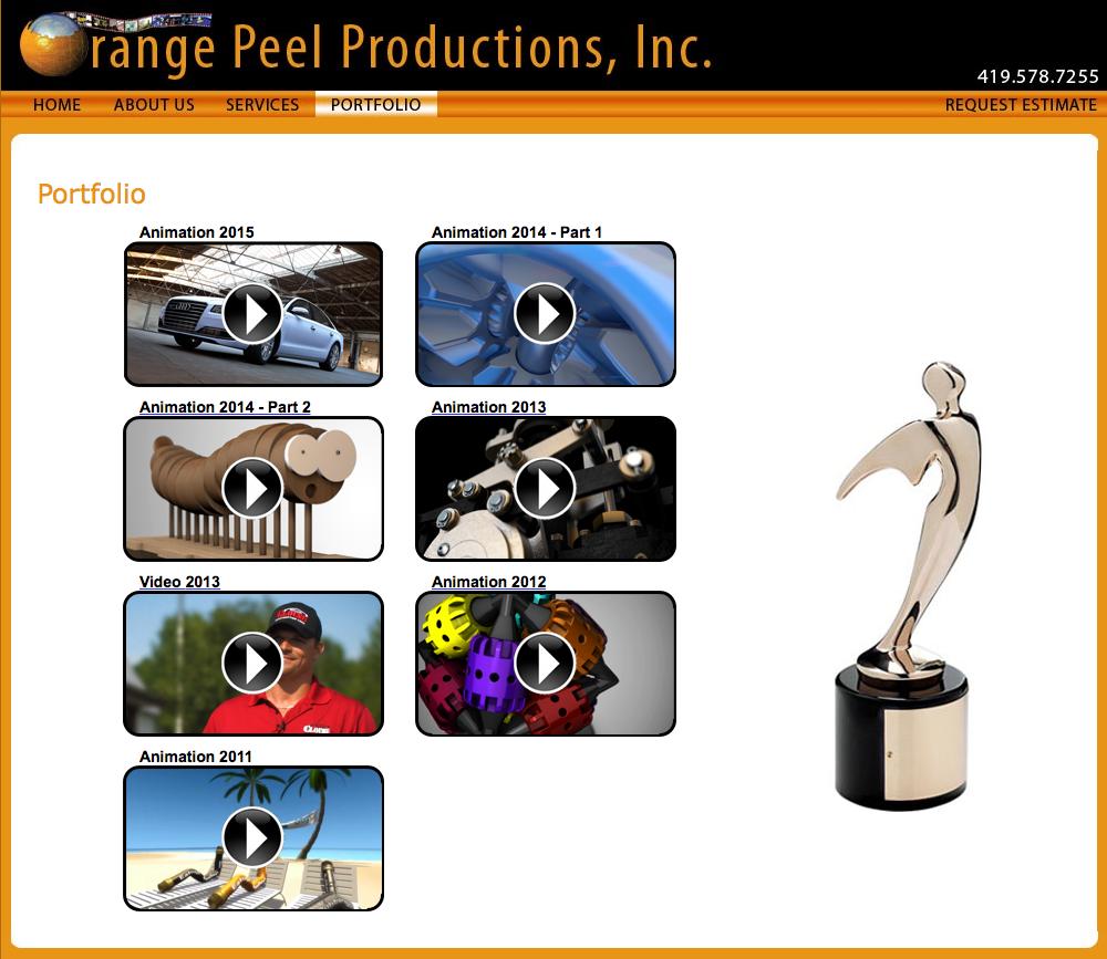 Orange Peel Productions, Inc. portfolio page