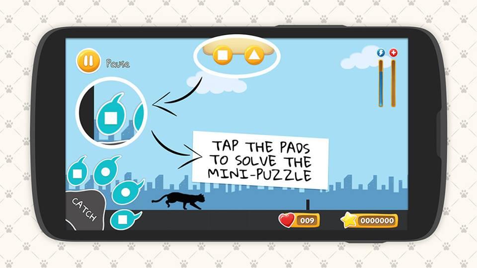 Paws game explaining puzzle mechanics