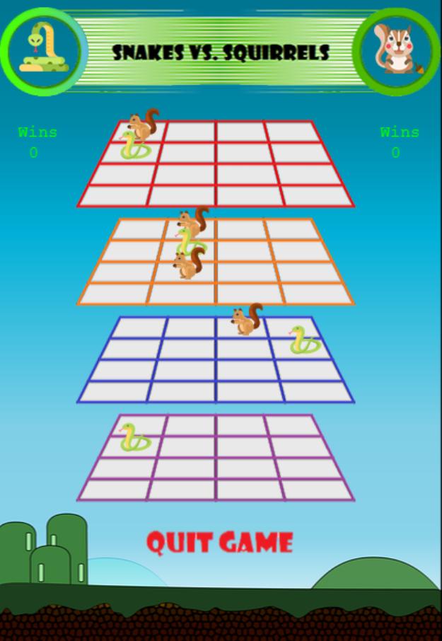 Snakes vs. Squirrels screenshot