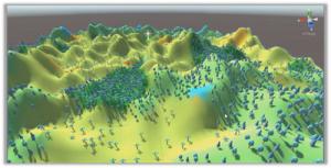 Procedurally generated terrain in Unity