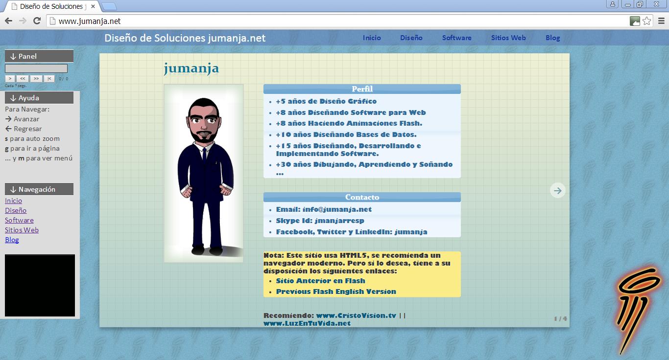 Screenshot of Juan's jumanja_net project