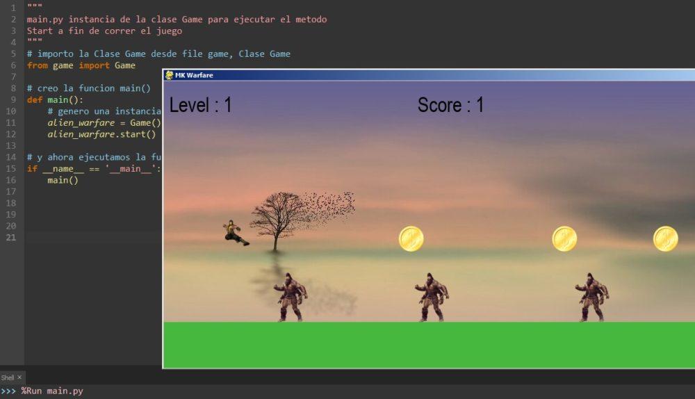 Screenshot of Carlos' first game