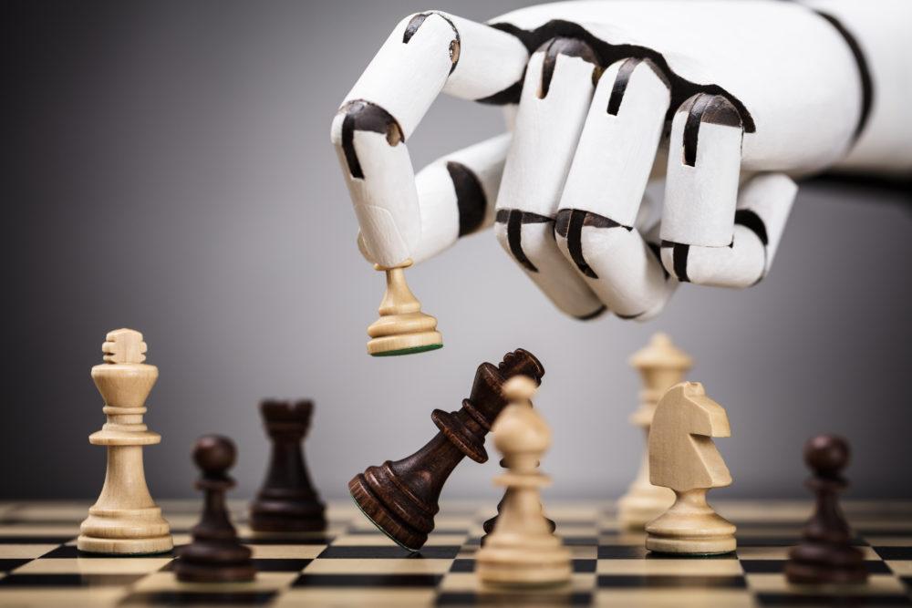 AI-powered robot playing chess