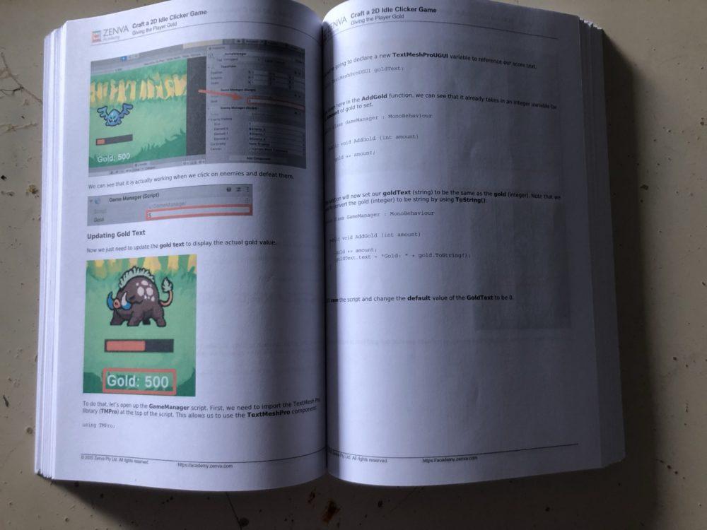 Bookbound version of Zenva lesson summaries